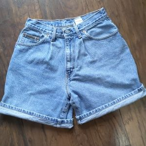 Vintage Calvin Klein high-rise denim shorts 90s